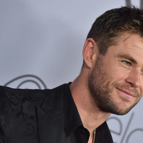 Chris Hemsworth Gives Hitchhiker A Lift In HELICOPTER!