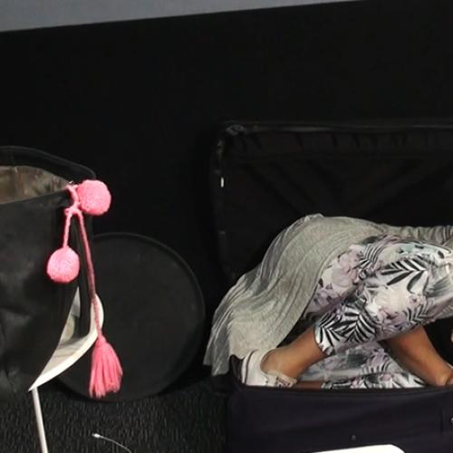 Bianca Dye Tries To Fit Into A Suitcase Like Taylor Swift