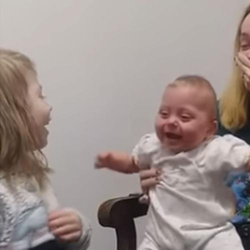 Watch Scarlet Hear Her Sister's Voice For The First Time
