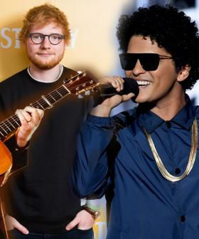Ed Sheeran Teases Bruno Mars & Chris Stapleton Collaboration