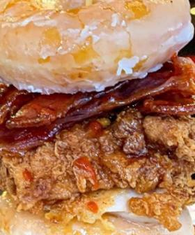 Milky Lane Has Recreated The KFC Chicken And Donuts Burger