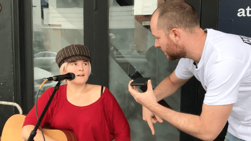 Amazing... Busker Goes From Street To National Radio In 10 mins!