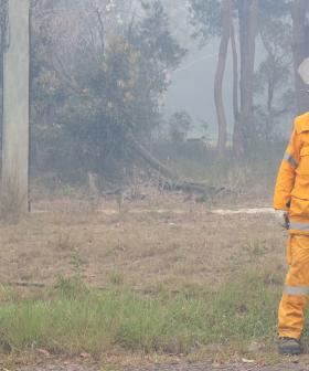 QLD Firefighters Still Battling Large Fire