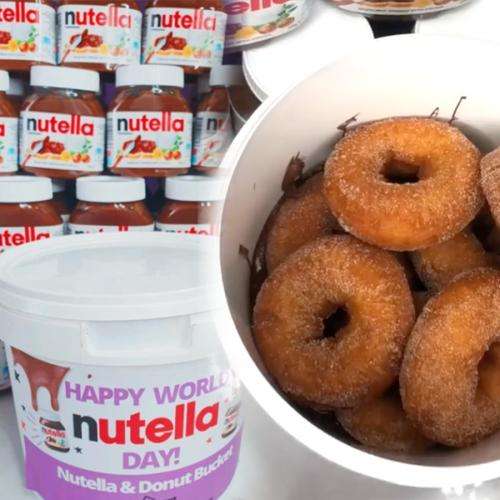 You Can Get A Nutella Donut Bucket For World Nutella Day And We're Literally Drooling