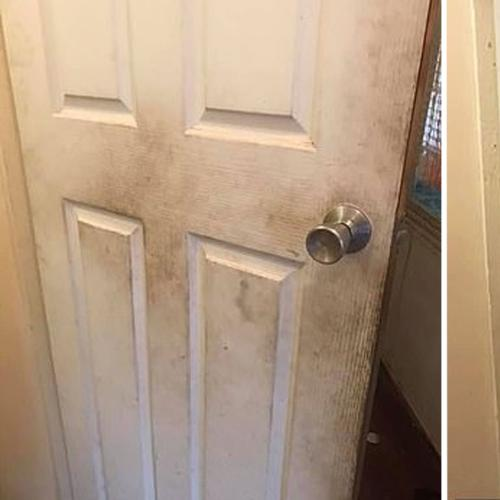 Life Hack! Fabric Softener Is Actually Really Good At Cleaning Walls & Doors