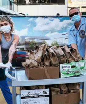Miley Cyrus And Cody Simpson Deliver Tacos To Healthcare Workers Amid Coronavirus Pandemic