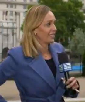 Aussie Reporter Has Terrifying Moment During Live Cross To Australia From London