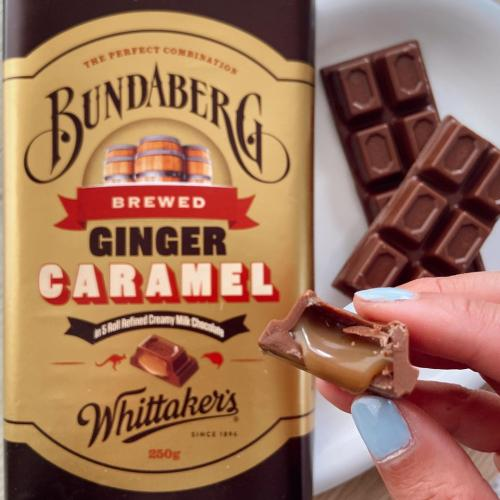 Chokkie Gods Whittakers Are Releasing A Caramel x Ginger Beer Block With Bundaberg!