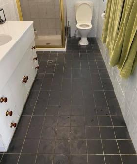 """So Satisfying!"": Mum Transforms Bathroom Floor After Moving Into Rental"