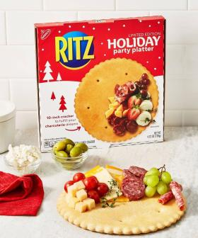 Ritz Were Giving Away Huge Charcuterie Boards Made Out Of... A GIANT RITZ CRACKER!