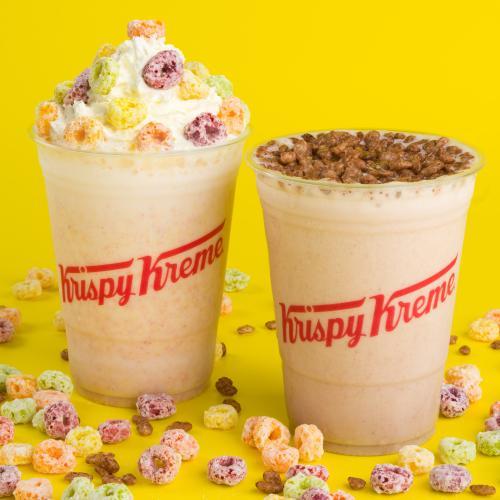 Krispy Kreme's Collab-ing With Kellogg's To Release Froot Loops & Coco Pops Milkshakes!