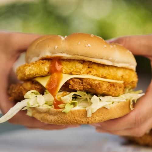 KFC's Hashbrown + Fried Chicken Tower Burger Is BACK!
