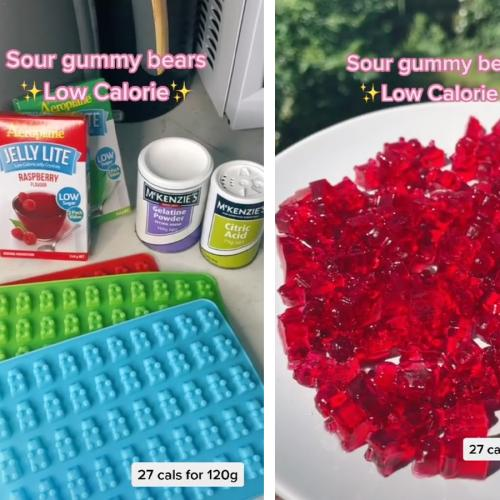 This TikTok Recipe of Super Easy Low Calorie Sour Gummy Bears Has Changed My Life