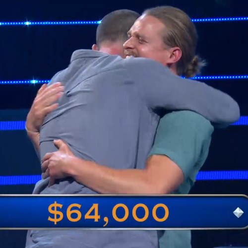 Gus Worland Reacts To Will & Woody's 'Millionaire' Win