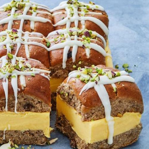 Taste.Com Have Come Through AGAIN With These Hot Cross Bun Vanilla Slices