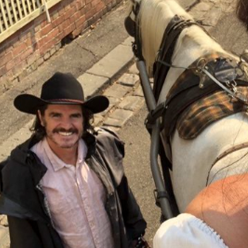 Kate Langbroek Goes On Her Belated Valentine's Day Date With A Horse & Cart Ride