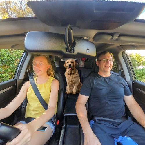 Can You Spot What's Wrong With This Picture Of A Father And Daughter On A Road Trip?