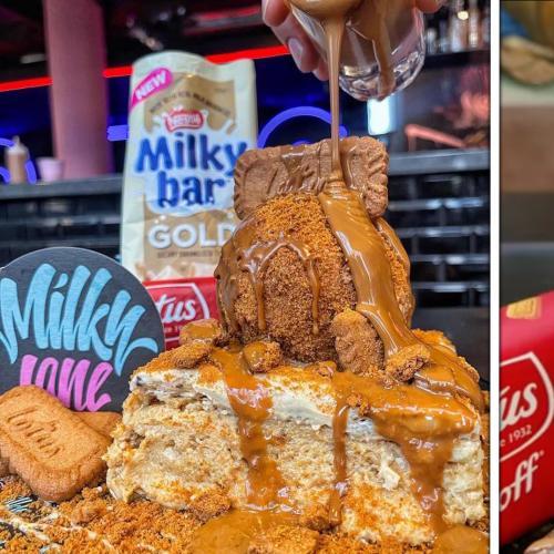 This Brisbane Cafe's Doing Milky Bar Gold & Biscoff Vanilla Slice & We're In LOVE!