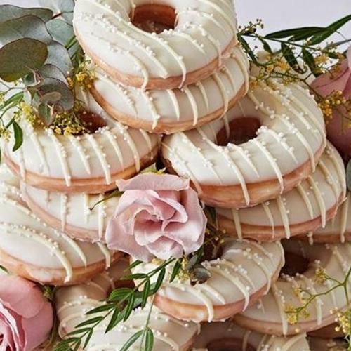 Bored Of Traditional Wedding Cakes? Krispy Kreme Is Selling Wedding Doughnuts!